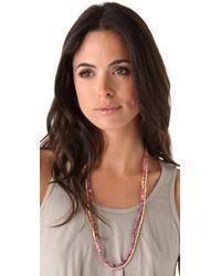 Shashi - Pink Amanda Golden Nugget Necklace - Lyst