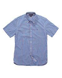 Tommy Hilfiger Tommy Hilfiger Jesse Short Sleeve Check Shirt Bluewhite for men
