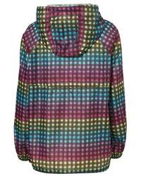TOPSHOP Multicolor Rainbow Check Pacaparka