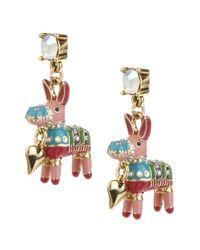 Betsey Johnson | Multicolor Pinata Drop Earrings | Lyst