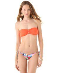 Juicy Couture Multicolor Miss Divine Cinched Bandeau Bikini Top