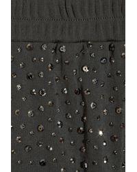 Michael Kors Metallic Swarovski Crystal-embellished Jersey Pants