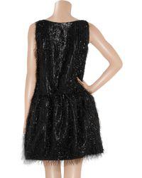 Boutique Moschino   Black Tinsel-effect Lamé Dress   Lyst