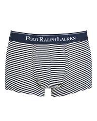Polo Ralph Lauren Blue Polo Ralph Lauren Navy Stripe Trunks White for men