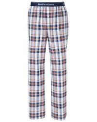 Polo Ralph Lauren Blue Polo Ralph Lauren Woven Check Lounge Pants for men