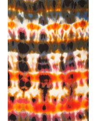 TOPSHOP Multicolor Tie Dye Cut Out Shoulder Top