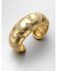 ABS By Allen Schwartz - Metallic Stone Accented Bangle Bracelet - Lyst