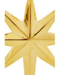 Eddie Borgo Metallic Goldplated Northern Star Earrings