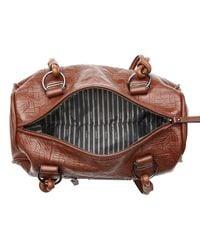 Mimco Brown Montague Mini Day Bag