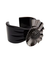 Mimco | Black Sunray Flower Cuff | Lyst