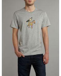 Paul Smith Gray Printed Gymnast Olympics T-shirt for men