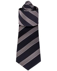 Racing Green Blue Navy and White Stripe Tie for men