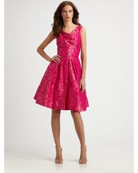 THEIA Pink Floral Dress