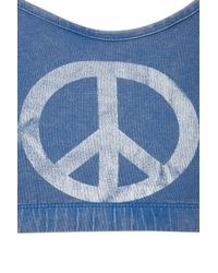 TOPSHOP Blue Peace Symbol Bralet