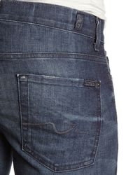 7 For All Mankind | Blue Slimmy Jeans for Men | Lyst
