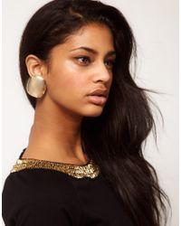 ASOS   Metallic Asos Oversize Clip On Stud Earrings   Lyst