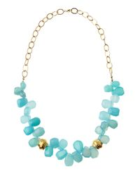 Devon Leigh | Blue Chalcedony Necklace | Lyst