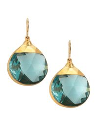 Devon Leigh | Blue Quartz Teardrop Earrings | Lyst