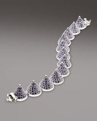 Eddie Borgo - Purple Pave Cone Bracelet Lavender - Lyst
