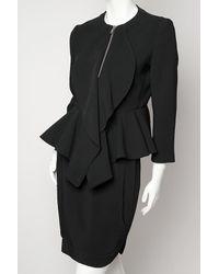 Givenchy Black Peplum Jacket