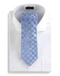Ike Behar - Floral Woven Tie Blue for Men - Lyst