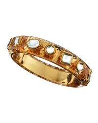 Isharya | Metallic Mirror Glass Resin Bangle | Lyst