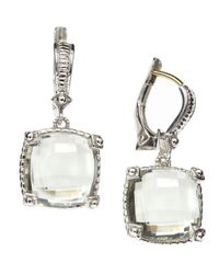 Judith Ripka | Green Quartz Dangle Earrings | Lyst