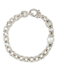 Judith Ripka Metallic Serafina Pearl Bracelet