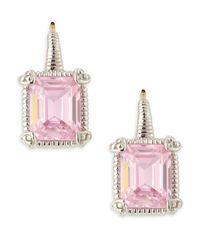 Judith Ripka | Pink Squarecut Jazz Earrings | Lyst