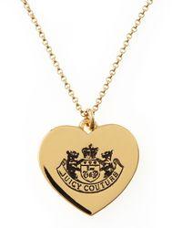 Juicy Couture Metallic Lighten Up Pendant Necklace