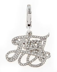 Juicy Couture - Metallic Pave Juicy Charm - Lyst