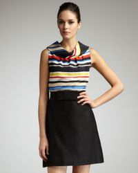 Kate Spade | Multicolor Blaise Stripe Sleeveless Cowl Neck Blouse | Lyst