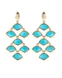 Kendra Scott | Blue Magnesite Chandelier Earrings Turquoise | Lyst