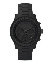 Michael Kors - Blackout Silicone Watch - Lyst