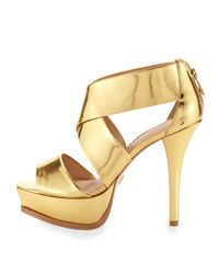 Pour La Victoire - Metallic Tifara - Gold Mirrored - Lyst