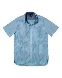 Tommy Hilfiger Blue Tommy Hilfiger Carl Stripe Shirt Navy for men