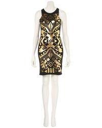 TOPSHOP Black Circuit Foil Bodycon Dress