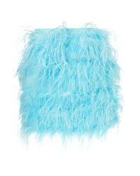 TOPSHOP Blue Premium Full Feather Skirt