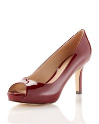 Via Spiga | Red Ryan Peeptoe Pump Claret | Lyst