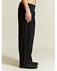 Comme des Garçons Black Ester Twill Trousers for men