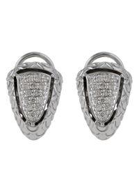John Hardy | Metallic Naga Pave Diamond Shrimp Earrings | Lyst