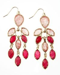Kendra Scott | Metallic Multistone Chandelier Earrings  | Lyst