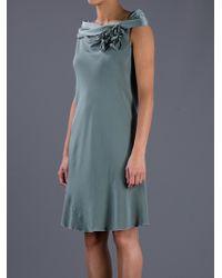 Paola Bellandi Green Off Shoulder Night Dress