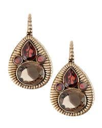 Stephen Dweck Brown Teardrop Cluster Earrings