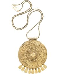 Aurelie Bidermann Metallic Pachacamac 18karat Goldplated Medallion Necklace