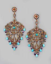 Jose & Maria Barrera | Metallic Deco Filigree Earrings | Lyst
