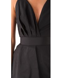 Katie Ermilio - Black Draped 2 in 1 Dress - Lyst