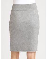 Max Mara | Gray Cashwool Skirt | Lyst