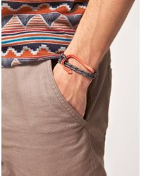 ASOS - Gray Asos Hook Bracelet for Men - Lyst