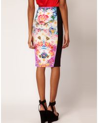 ASOS - Multicolor Asos Pencil Skirt in Photographic Floral Print - Lyst